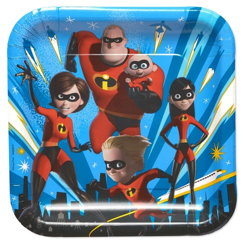 Incredibles2 8ct Dinner Plate - image 1 of 2