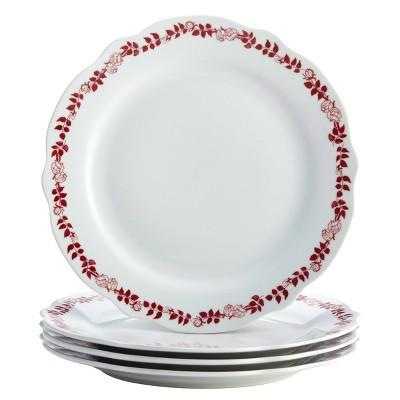 Dinner Plate Yuletide Garland 15.75 x13  Set of 4 - Bonjour