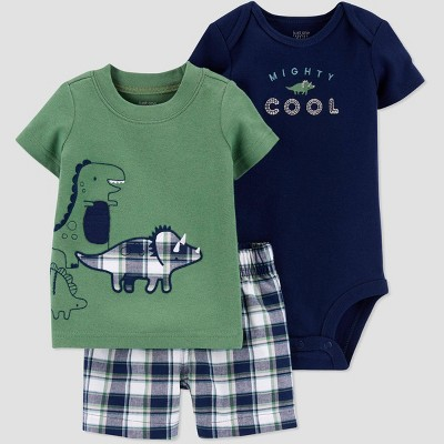 Baby Boys' Dino Top & Bottom Set - Just One You® made by carter's Green/Blue 3M