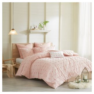 Pink Kay Comforter Set (King/California King)