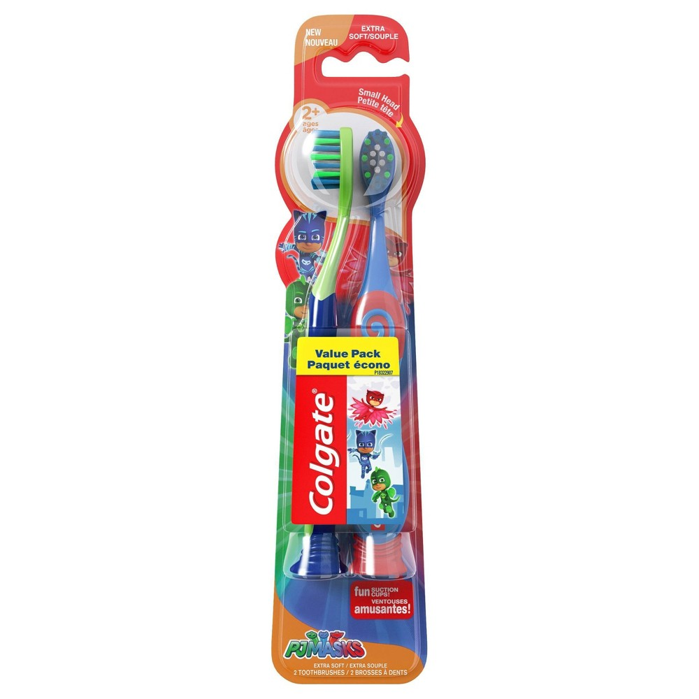 Image of Colgate Kids Toothbrush with Suction Cup PJ Masks Extra Soft - 2ct