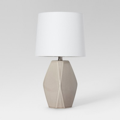 Modern Ceramic Facet Accent Table Lamp Gray Includes Energy Efficient Light Bulb - Project 62™