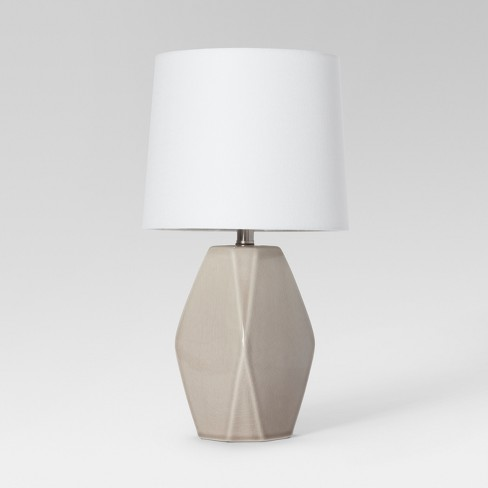 Modern Ceramic Facet Accent Table Lamp