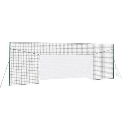 Open Goaaal JX-OGFL2 Adjustable Soccer Practice Net Rebounder Backstop with Training Goal, Large Size
