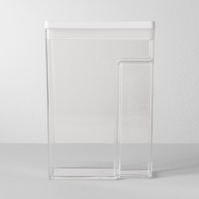 "8""W X 4""D X 11.5""H Plastic Food Storage Container With Snap Lid Clear - Made By Design™"
