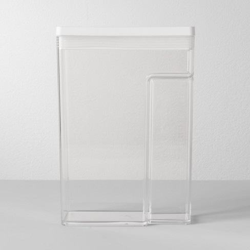 """8""""W X 4""""D X 11.5""""H Plastic Food Storage Container With Snap Lid Clear - Made By Design™ - image 1 of 4"""
