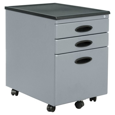 Element Mobile File Cabinet Silver - Studio Designs