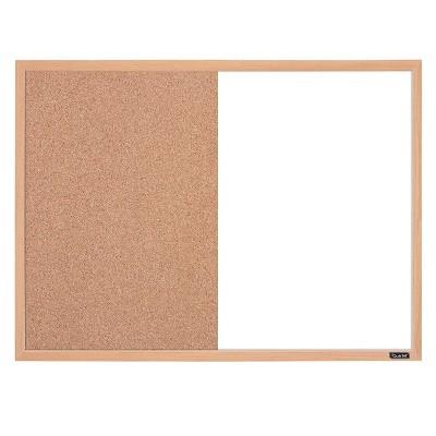 "Quartet 17"" x 23"" Combination Board Dry-Erase & Cork Surface Finish Frame - Oak"