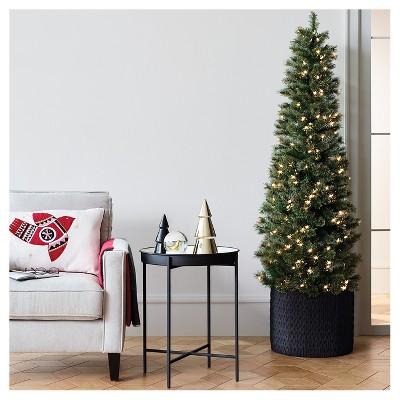 Christmas Branch Tree.7 5ft Pre Lit Artificial Christmas Tree Slim Virginia Pine Clear Lights Wondershop