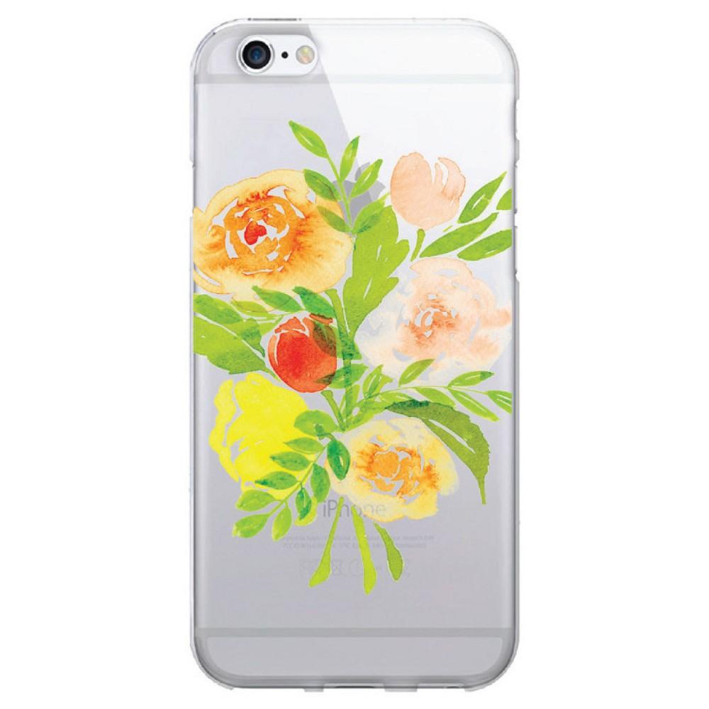 Apple iPhone 8/7/6s/6 Case Bouquet Yellow Clear - Otm Essentials