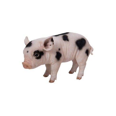 """9"""" Polyresin Standing Baby Pig Statue with Black Dots Pink - Hi-Line Gift - image 1 of 1"""