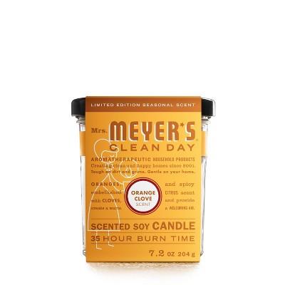 Mrs. Meyer's Clean Day Orange Clove Jar Candle - 7.2oz