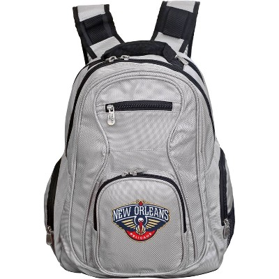 NBA New Orleans Pelicans Gray Laptop Backpack