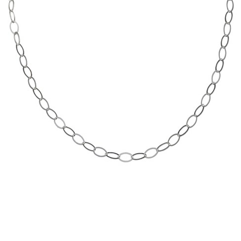 "Women's Oval Link Rolo Necklace in Sterling Silver (24"") - image 1 of 1"