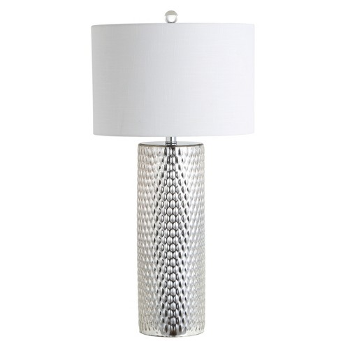 """30"""" Isabella Glass LED Table Lamp Silver (Includes Energy Efficient Light Bulb) - JONATHAN Y - image 1 of 4"""