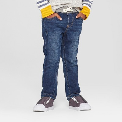Toddler Boys' Pull-On Skinny Jeans - Cat & Jack™ Medium Wash 12M