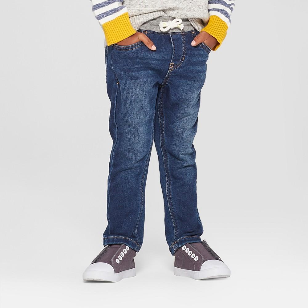 Toddler Boys' Pull-On Skinny Jeans - Cat & Jack Medium Wash 4T, Blue