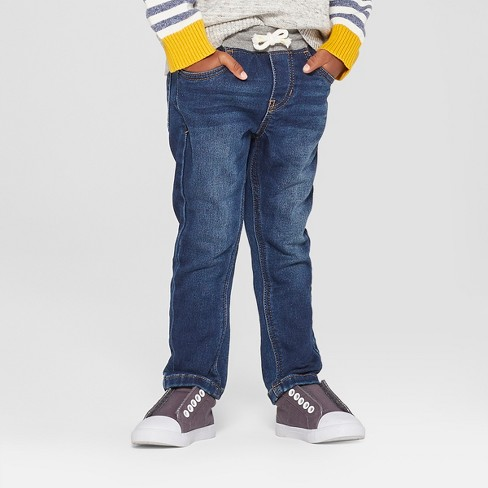 Toddler Boys' Pull-On Skinny Jeans - Cat & Jack™ Medium Wash - image 1 of 3