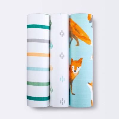 Muslin Swaddle Blanket - Cloud Island™ Fox