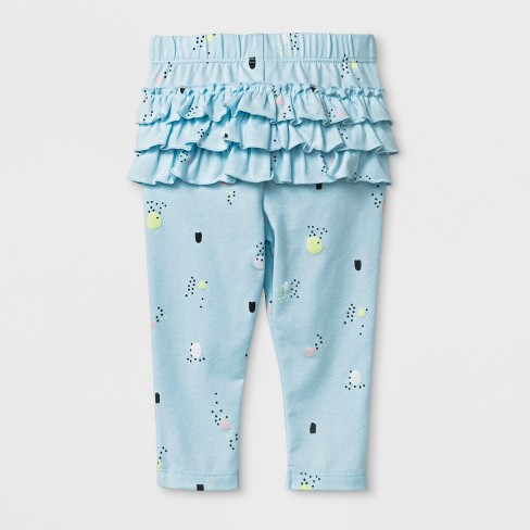5ec563e8a16cc Baby Girls' Ruffle Leggings - Cat & Jack™ Blue : Target