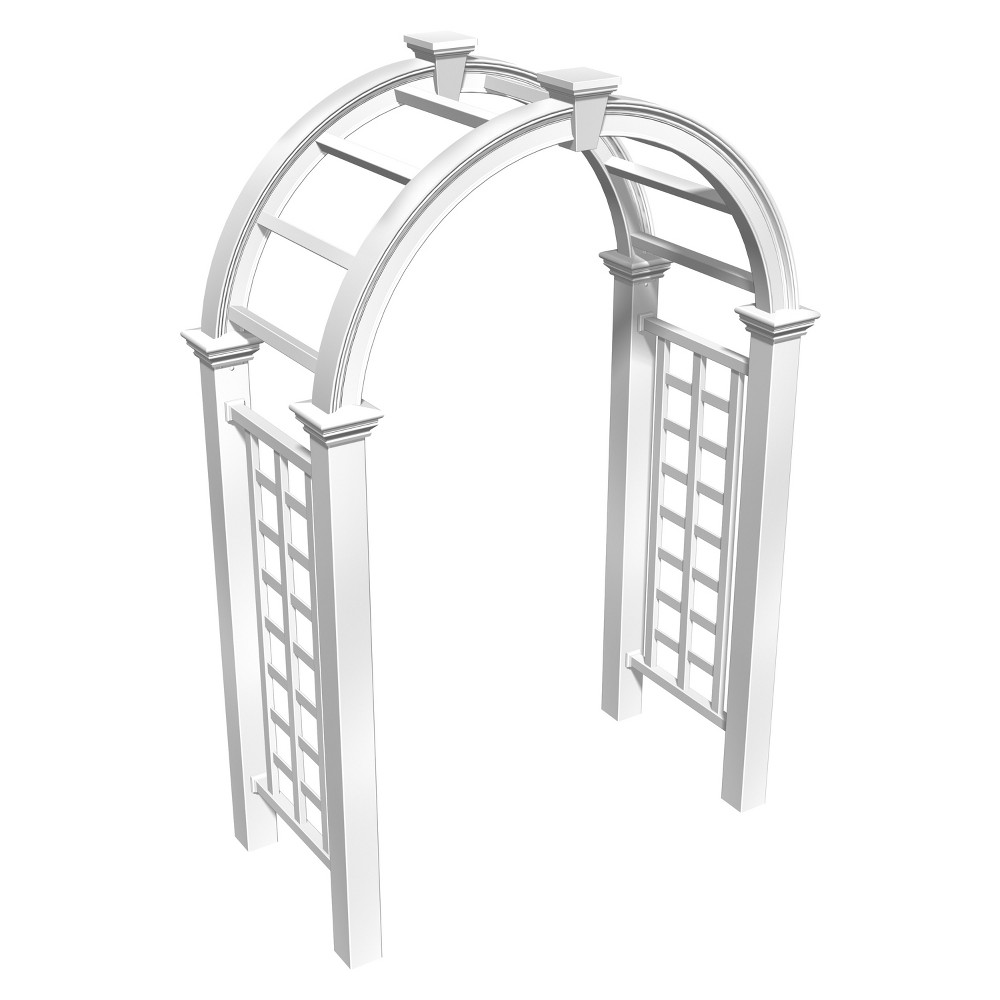 Image of Nantucket 30 Deluxe Arbor - White - New England Arbors