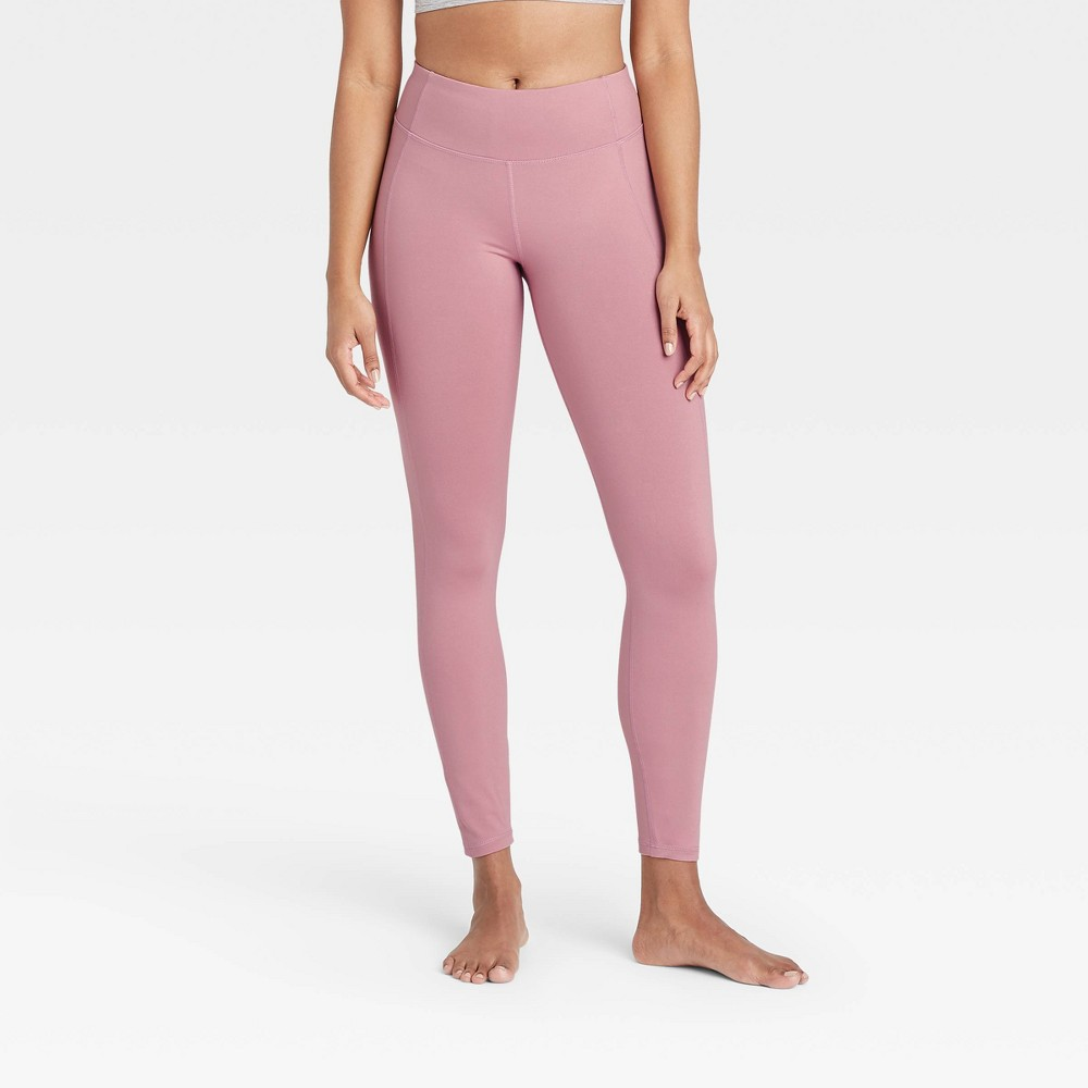 Women 39 S Simplicity Mid Rise Leggings All In Motion 8482 Faded Rose Xl