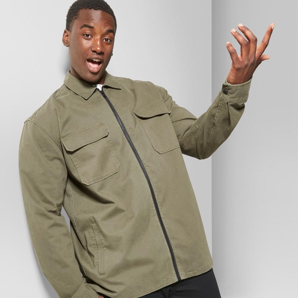 Men's Tall Full Zip Jacket - Original Use Paris Green LT