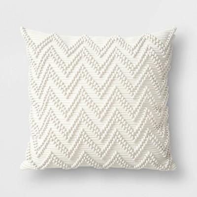 Textured Woven Outdoor Throw Pillow Cream - Threshold™