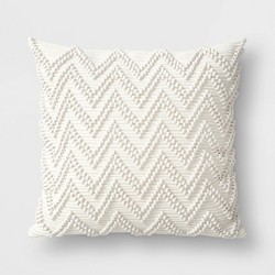 Textured Woven Outdoor Throw Pillow Cream - Threshold™