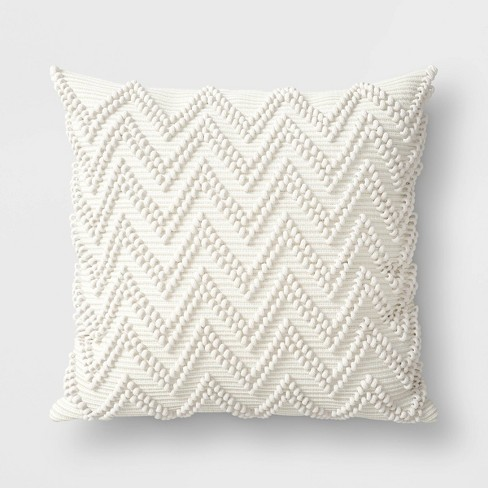 Textured Woven Outdoor Throw Pillow Cream - Threshold™ - image 1 of 1