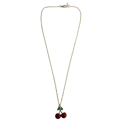 "Women's Fashion Necklace With Cherry Pendant And Stones(18"") - image 1 of 1"