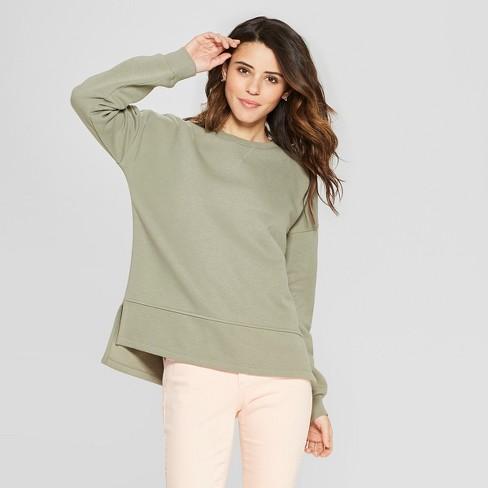 4bc3c0994c5 Women's Long Sleeve Tunic Sweatshirt - Universal Thread™ Olive XXL ...