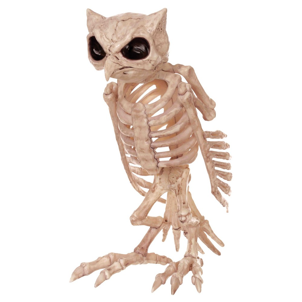 Image of Halloween Skeleton Owl, Beige