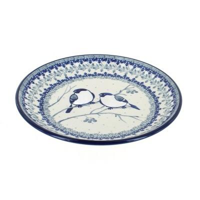 Blue Rose Polish Pottery Bluebird Dessert Plate