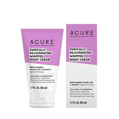 Acure Radically Rejuvenating Whipped Night Cream Facial Moisturizers - 1.7 fl oz