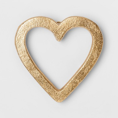 Heart Decorative Wall Sculpture Gold (5 x5 )- Project 62™