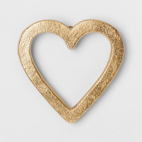 "Heart Decorative Wall Sculpture Gold (5""x5"") - Project 62™ - image 1 of 1"