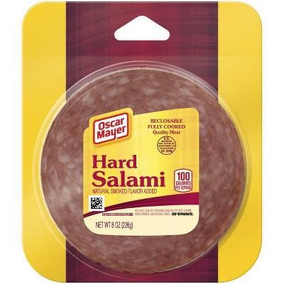 Oscar Mayer Sliced Hard Salami - 8oz