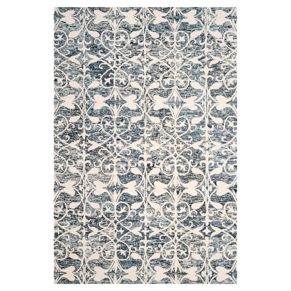 Charcoal/Ivory (Grey/Ivory) Shapes Tufted Area Rug 6'X9' - Safavieh