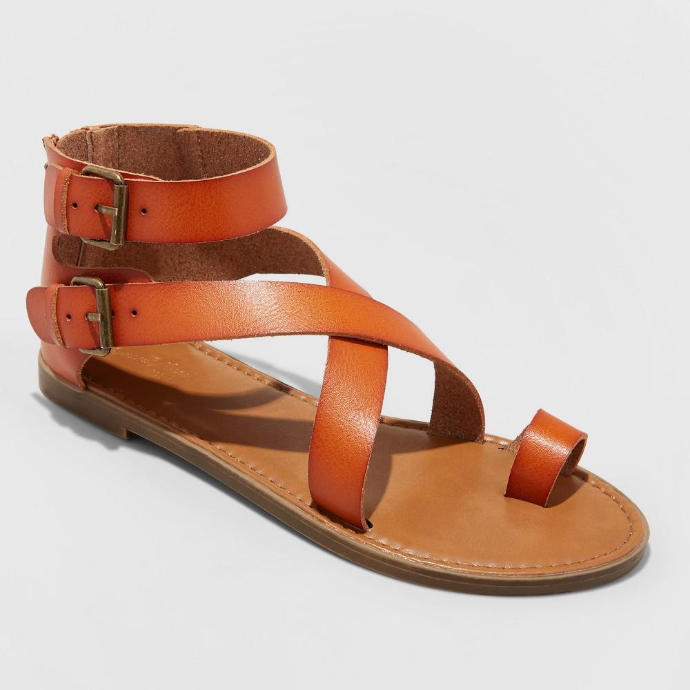 Women's Maribella Toe Wrap Gladiator Sandal - Universal Thread Cognac (Red) 7.5
