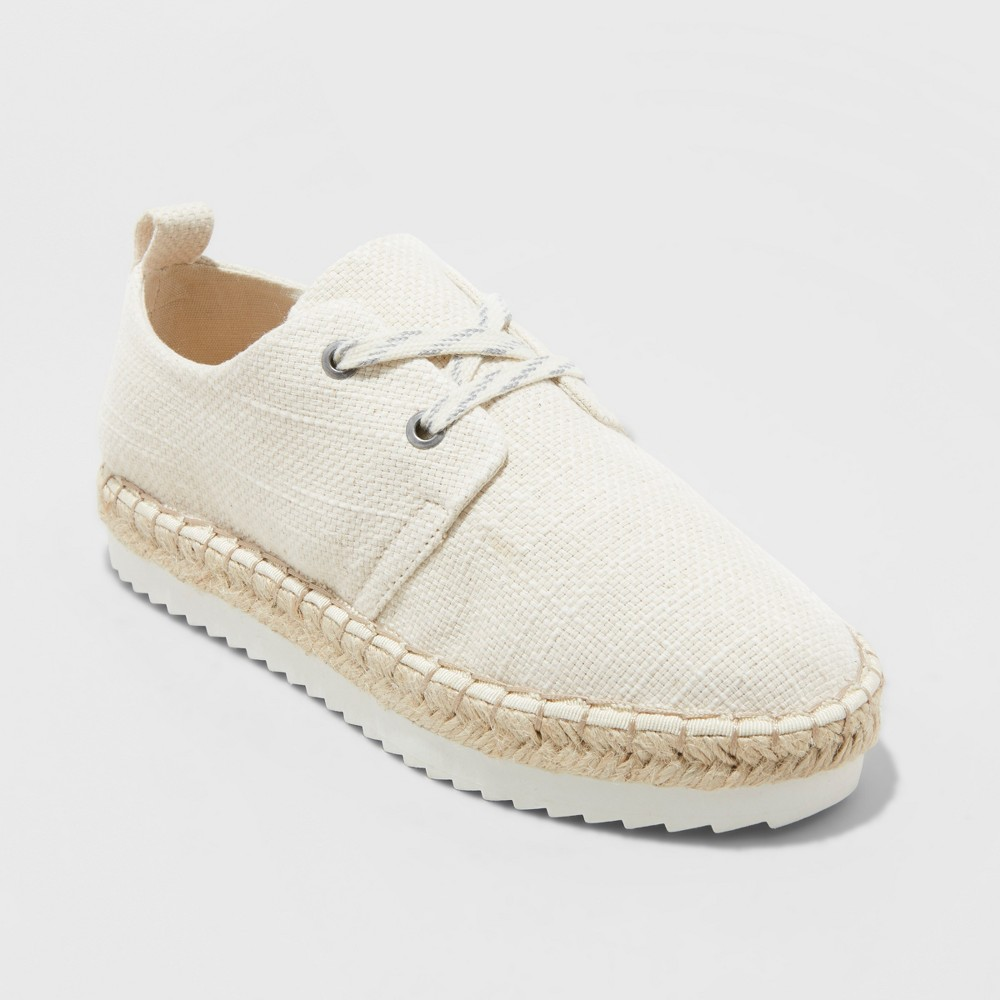 Women's Joelle Espadrille Sneakers - Universal Thread Cream (Ivory) 11