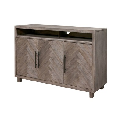"""Palisades Deluxe Console TV Stand for TVs up to 60"""" Gray - Martin Furniture"""