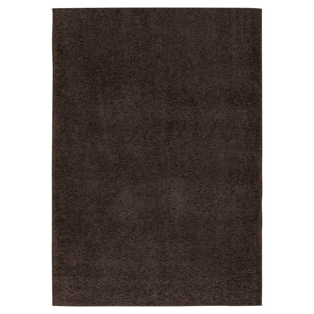 Image of Nourison Solid Bonita Shag Accent Rug - Gray (3'X5')
