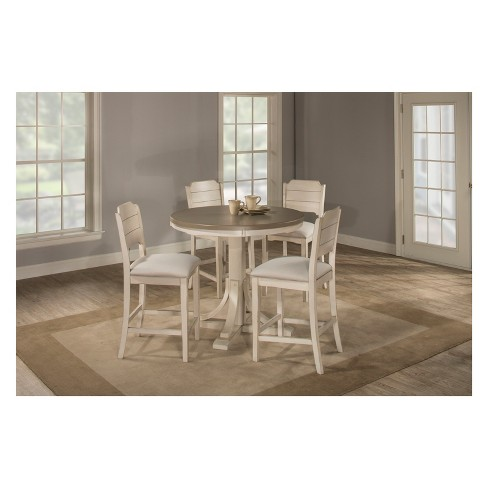 Fabulous Clarion 5Pc Round Counter Height Dining Set With Open Back Stools Gray Fog Fabric Hillsdale Furniture Gmtry Best Dining Table And Chair Ideas Images Gmtryco