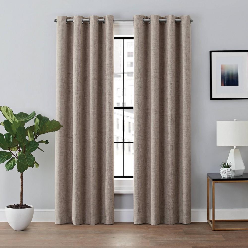 108 34 X50 34 Renwick Blackout Curtain Panel Brown Brookstone