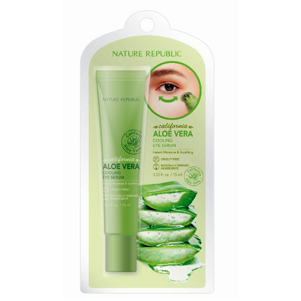 Image of Nature Republic Aloe Vera Cooling Eye Serum Facial Treatment - .5 fl oz