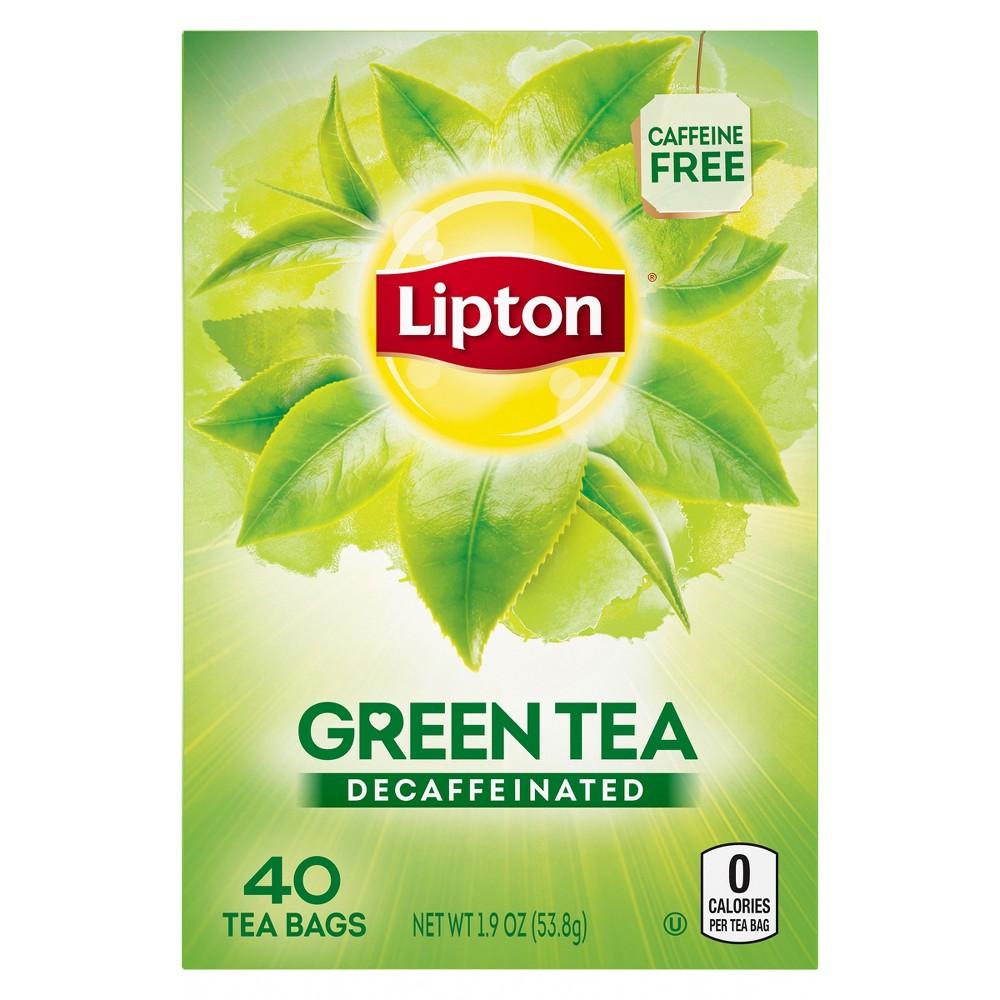 Lipton Decaffeinated Green Tea - 40ct