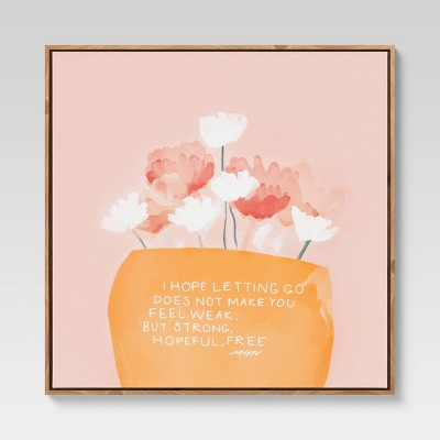 """25"""" x 25"""" Bouquet Quote by Morgan Harper Nichols Framed Wall Canvas"""