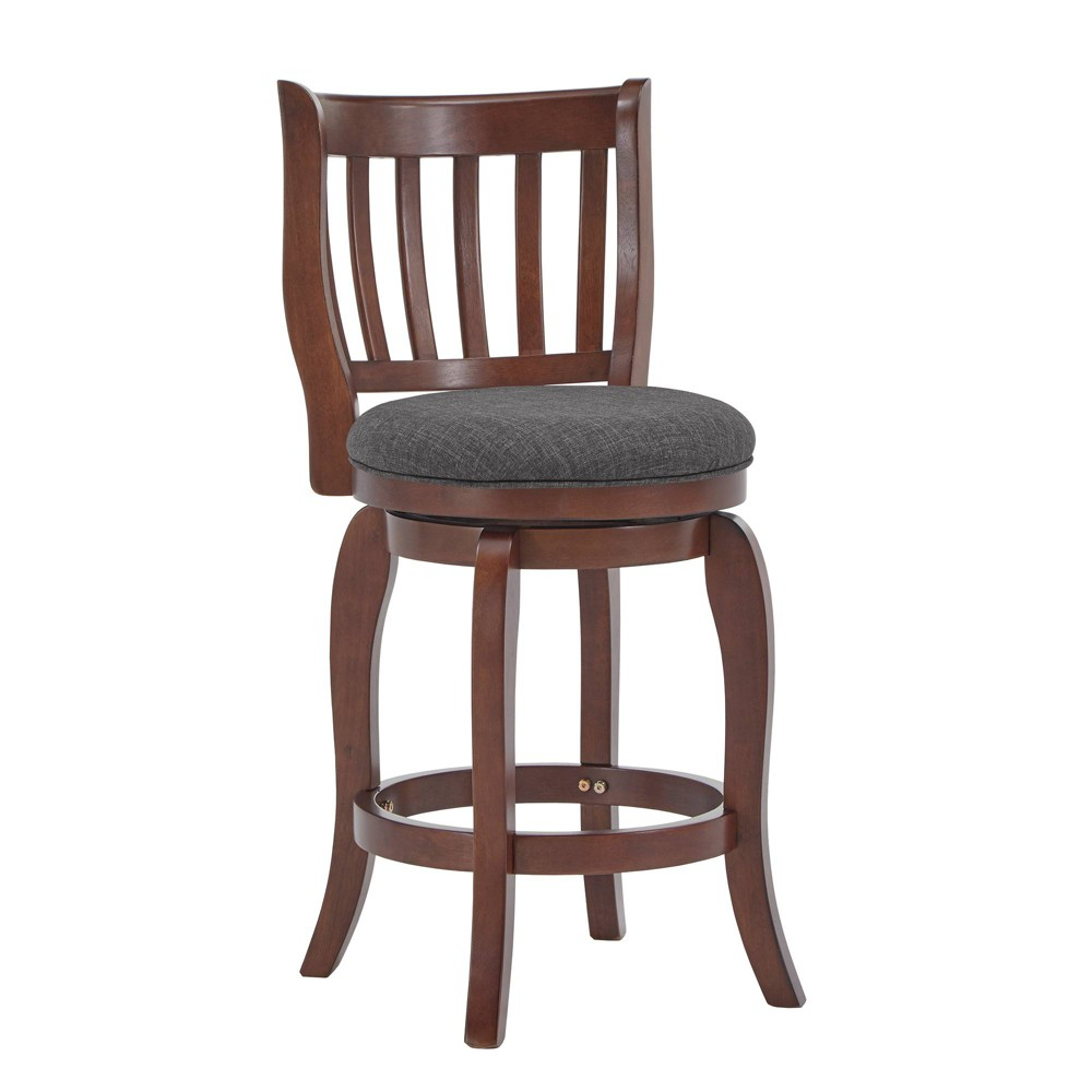 """Image of """"24"""""""" Tracee Swivel Counter Stool Charcoal - Inspire Q"""""""