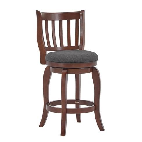 Wondrous 24 Tracee Swivel Counter Stool Charcoal Inspire Q Short Links Chair Design For Home Short Linksinfo